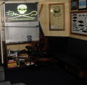 Crew lounge where video was shown